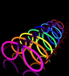 50 Glow Eyeglasses 8 Assorted Mix Colors Christmas Party Brand New Glow Stick #Lumistick