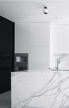 marble kitchen counters http://instagram.com/curatedinterior