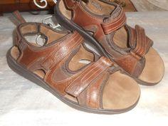 c2b7deda3324 CLARKS UN 63390 CAICOS BROWN LEATHER SPORT SANDAL 14 M  fashion  clothing   shoes