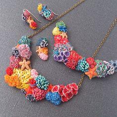 Korallenschmuck aus FIMO