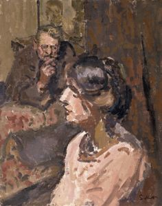 Hubby and Marie by Walter Richard Sickert - Cd Paintings Life Drawing, Painting & Drawing, Figure Painting, Walter Sickert, Camden Town, Camden Group, Manchester Art, City Gallery, Impressionist Artists