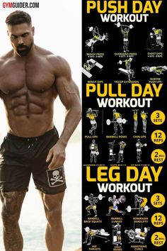Everyone has a body, but that doesn't mean their muscles are going to respond to the same workout yours does and vice versa. If you are feeling frustrated with your current progress, it is a signal…More Push Pull Legs Workout, Leg Workout Plan, Gym Workout Chart, Leg Day Workouts, Weight Training Workouts, Gym Workout Tips, Extreme Workouts, Push Workout, Workout Men