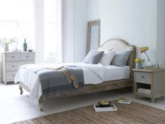 Damsel upholstered French bed