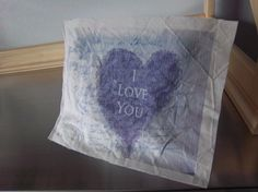 Heart fabric panel handmade altered art typography by iwathd09, $6.50
