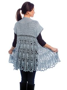 This beautiful cardigan is made using Paton's Metallic worsted-weight yarn. Instructions are written for sizes S (M, L, XL, 2XL, 3XL, 4XL, 5XL, 6XL) and use 1,512 (1,764, 1,764, 2,016, 2,268, 2,520, 2,772, 3,024, 3,276) yds of any worsted-weight yarn...
