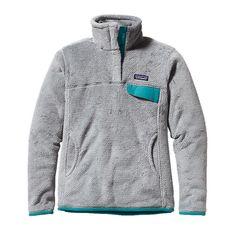 Patagonia Women's Re-Tool Snap-T® Fleece Pullover | Tailored Grey - Nickel X-Dye w/Tobago Blue