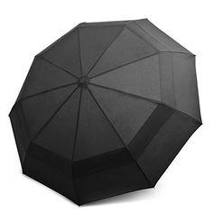 #beachaccessoriesstore EEZ-Y Compact Travel Umbrella w/ Windproof Double Canopy Construction - Auto Open Close:… #beachaccessoriesstore