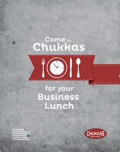 Chukkas restaurant advertising by Anna D'Alessandro, via Behance