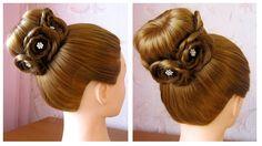 Tuto coiffure simple: chignon bun cheveux long (soirée/mariage/pour le...