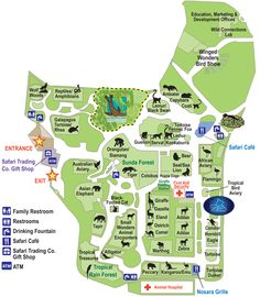 Fresno Chaffee Zoo Map, Sea Lion Cove