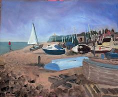 Buy Boats at Walmer near Deal, Kent - An original painting - Lovely Gift Idea…