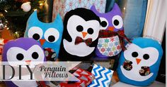 DIY Penguin Pillows