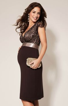 Our best-selling Rosa short maternity dress is now available in mouth-watering Mocha, such a luscious shade for the party season.