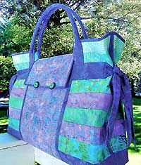 Carpet Bag Pattern by Aunties Two - Really beautiful with matching batik fabrics!