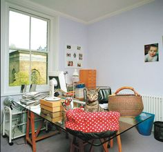 Julie Myerson's work room