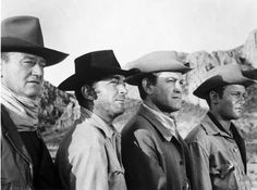 "John Wayne, Dean Martin, Earl Holliman, & Michael Anderson Jr. as ""The Sons of Katie Elder"""