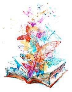 Tattoo Buch, Art Sketches, Art Drawings, Art Papillon, Illustration, Butterfly Art, Butterfly Painting, Butterfly Watercolor, Art Abstrait