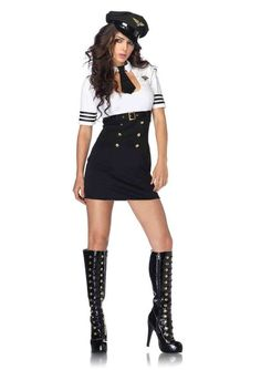 Halloween Police Woman Cosplay Costume Sexy Black And White Cop Costume For Woman Cop Costume, Police Officer Costume, Costume Sexy, Costume Dress, Cosplay Costumes, Pilot Costumes, Military Costumes, Deer Costume, Cowgirl Costume