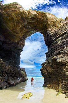 I want to go here! Playa de las Catedrales, Galicia, Spain
