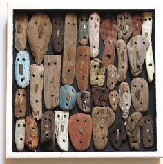 Items similar to Faces Three on Etsy - Gartenkunst Ideen Driftwood Wall Art, Driftwood Crafts, Paper Artwork, Art Carved, Wooden Art, Camping Crafts, Wood Sculpture, Ribbon Sculpture, Stone Art