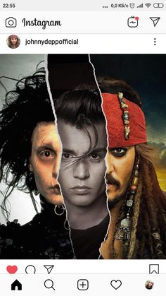Collage Art by FailunFailunMefailun. FailunFailunMefailun is a Turkish artist who blends the old and the new. Continue Reading and for more Collage Art → View Website Young Johnny Depp, Cinema, Edward Scissorhands, Captain Jack Sparrow, Collage Artwork, Natalie Portman, Pirates Of The Caribbean, Leonardo Dicaprio, Movie Characters