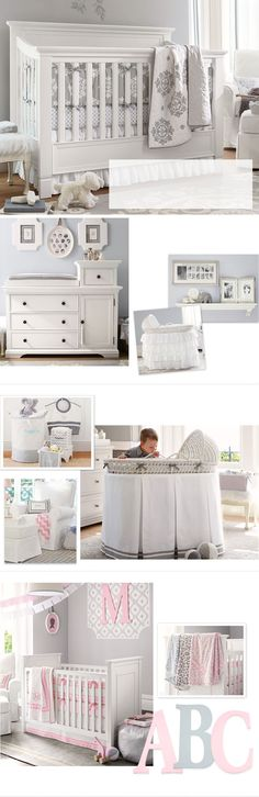 Nursery Ideas & Baby Room Decorating Ideas | Pottery Barn Kids... I like the one w/the M