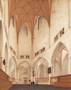 Pieter Jansz Saenredam, Interior of the Choir of Sint-Bavokerk at Haarlem, 1660