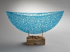Bateau II by Karen Bexfield. Kilnformed glass.