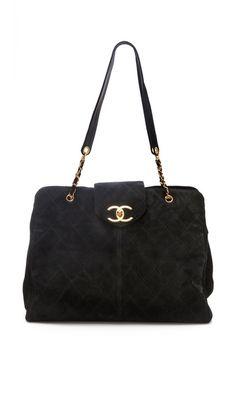 Love this bag! Wish it weren't 5K! WGACA Vintage Vintage Chanel Super Model Suede Bag