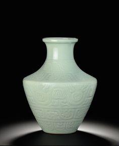 Chinese celadon vase, Christie's
