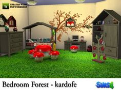 The Sims Resource: Bedroom Forest by Kardofe • Sims 4 Downloads
