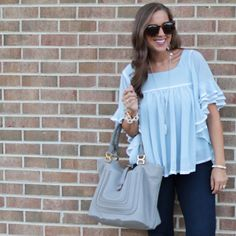 #ootn for sushi in this flutter flirty top under $25!