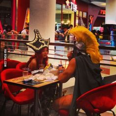 Just Miss Fortune and Pantheon lunching