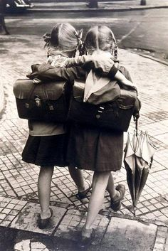 On the way to school...