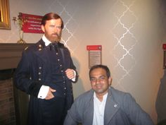 With Ulysees Grant.