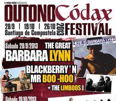 """#TheChiffons + #TheBigJamboree + #TheEarthAngels - Outono Códax #Festival en #SantiagodeCompostela  y SON EG Sáb 26 OCT 2013  El Outono Códax Festival celebra su III edición con la que acercará a Galicia lo mejor de la denominada """"música negra"""" http://www.event2me.com/6062369"""