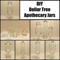 Ria's World of Ideas: DIY Dollar Tree Apothecary Jars