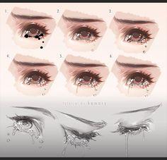 Drawing Tears by kawacy.deviantart.com on @DeviantArt