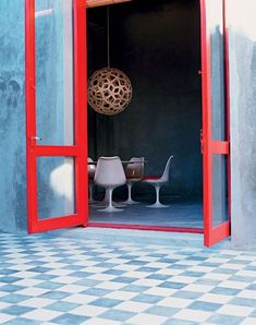 red trim | 19th century home; uruguay. (photo by tami christiansen for casa vogue brasil)