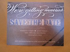 Custom save the date done by The Stationer New Orleans,love the street tiles!