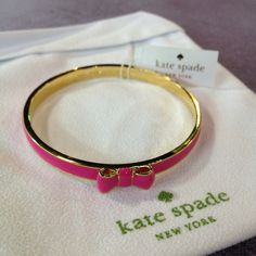 Early bday gift for me ! :) - Kate Spade pink bow bracelet