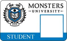 Make your own Monsters University ID Card