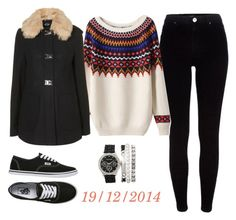 """19/12/2014"" by apcquintela ❤ liked on Polyvore featuring River Island, Topshop and Vans"