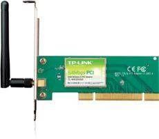 TP-LINK TL-WN350GD Kablosuz 54Mbps 1 Adet 2dBi Değiştirilebilir Antenli PCI Sinyal Alıcı