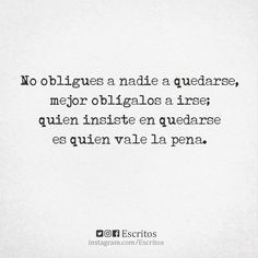 No obligues