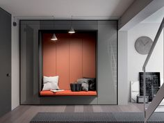 Tumidei - Smart Italian Projects, space for living and furnishing Hotel Internacional, Space Saving Furniture, House Entrance, Apartment Design, Office Interiors, Sofa Bed, Living Area, Small Spaces, Furniture Design