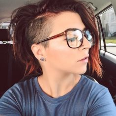 This girl rocks this hair style at all times