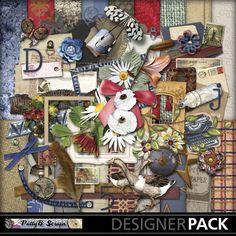 Digital Scrapbooking Kits | Dear John-(PattyB) | Everyday, Family, Friends, Heritage, Memories, Vintage | MyMemories