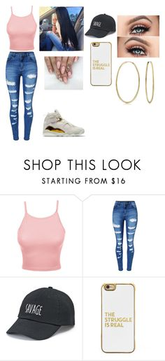 """""""cutie in gold"""" by leah6xo ❤ liked on Polyvore featuring LE3NO, WithChic, SO, BaubleBar and Bling Jewelry"""