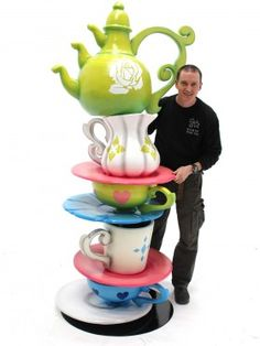 Event Prop Hire: Giant Alice Crockery Stack